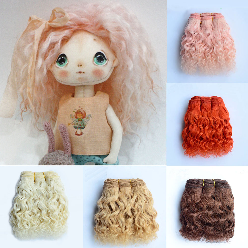 1 Pieces Wool Hair Wefts For BJD/SD/Blyth/American Dolls Curly Hair Extensions For All Dolls DIY Doll Wigs Hair Doll Accessories
