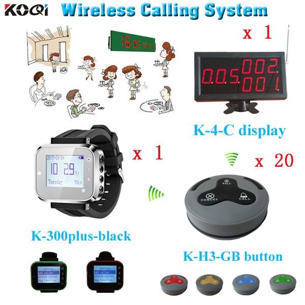 Système de vibreur électronique système d'appel de Restaurant appel serveur montre-bracelet pager table buzzer hôtel steward horloge