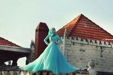 2016 New Saudi-arabien Dubai Stil Langarm Spitze Puffy Abendkleid Ballkleid Abendkleider FM1026