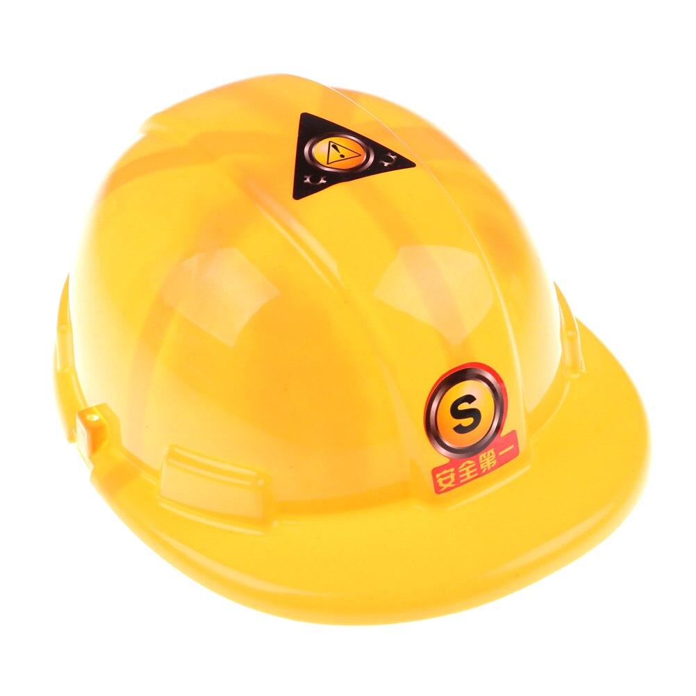 1 Stücke Gelb Simulation Sicherheit Helm Pretend Rolle Spielen Hut Spielzeug Bau Lustige Gadgets Kreative Kinder Kinder Geschenk Neue Kaufe Eins, Bekomme Eins Gratis