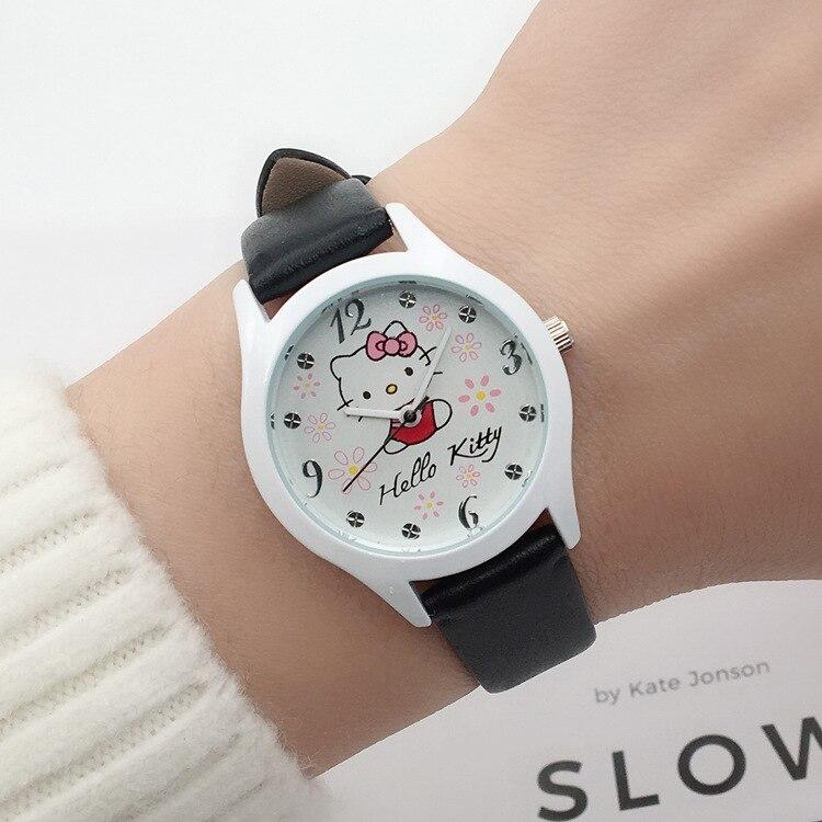 Cute Children Cartoon Hello Kitty Watch Girl Student Wrist Watch Girl Girl Watch Fashion Waterproof Quartz Electronic Watch