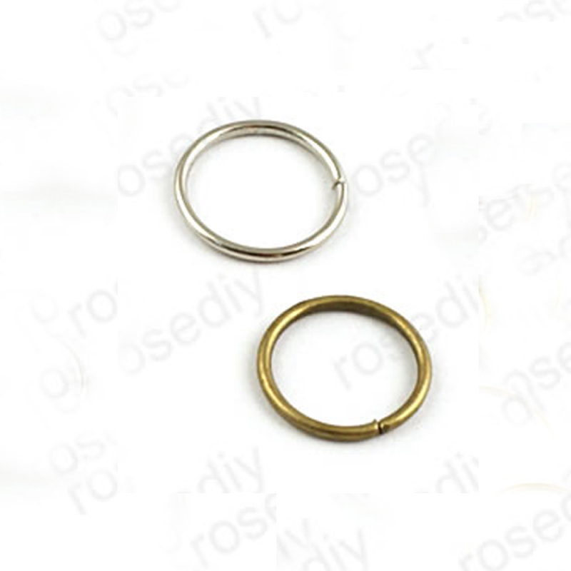 Wholesale 50g 14mm x 1.2mm Imitation Rhodium / Antique Bronze Iron Jump Rings Diy Jewelry Findings about 110 pieces (JM3069)