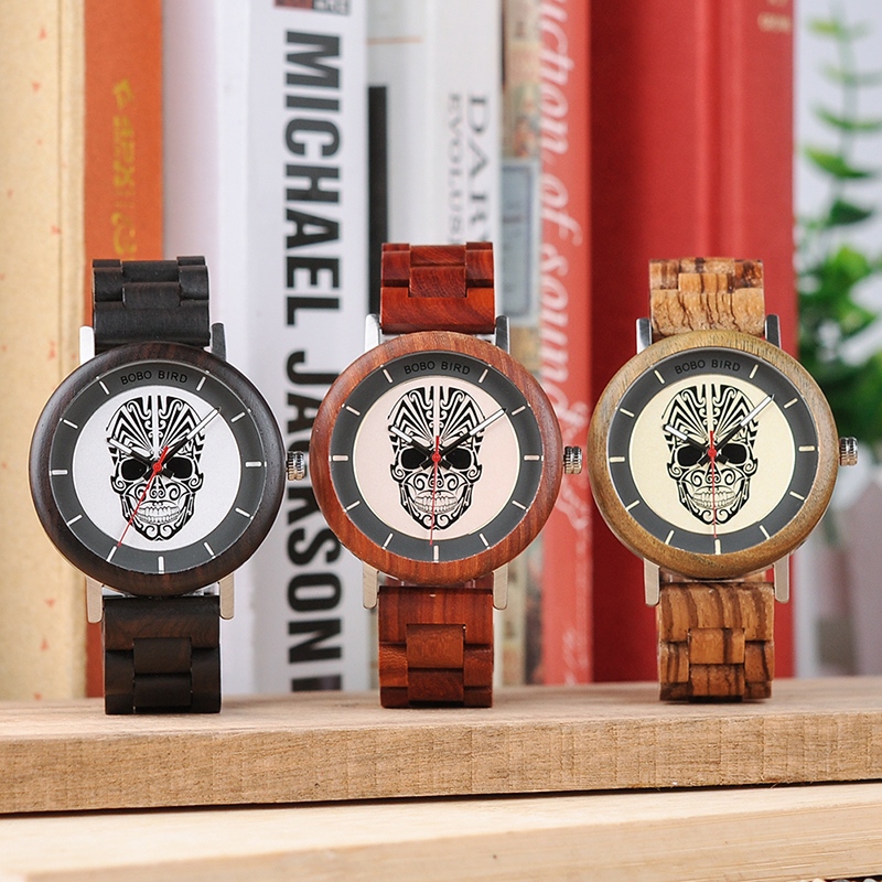 BOBO BIRD Timepieces Mænds Wooden Watches Fashion Wood Nyt Design - Mænds ure - Foto 3
