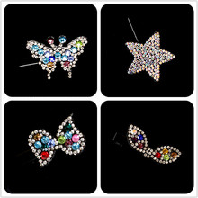 10 lovely Princess Kids Girls Cute Star Hair Clip butterfly  hair accessories Bowkont Clips hairpins