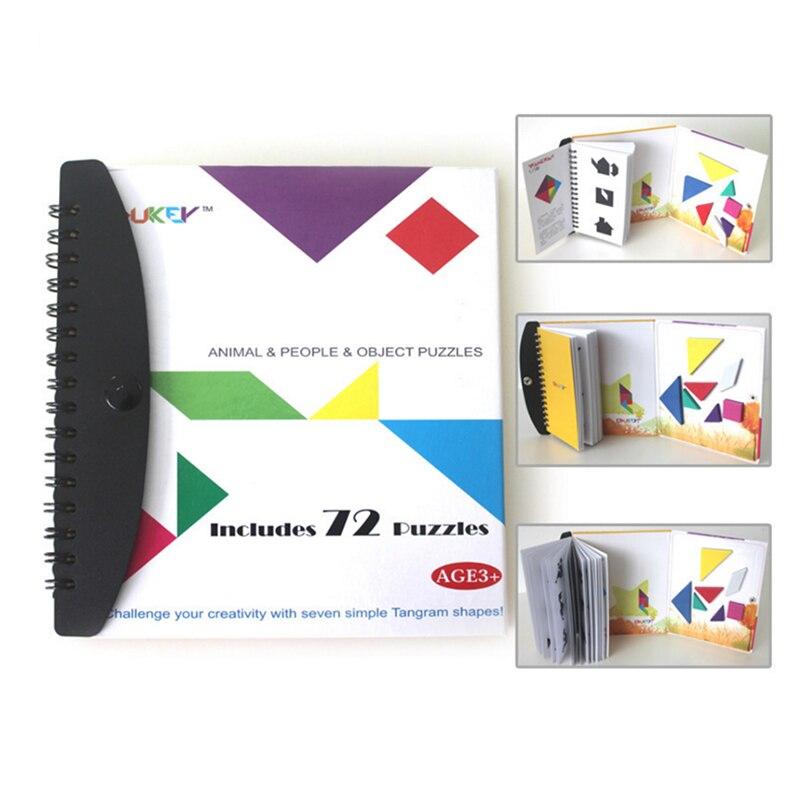 72/150 Tangram Rompecabezas Magnético Divertido Niños Montessori Educativos Jugu