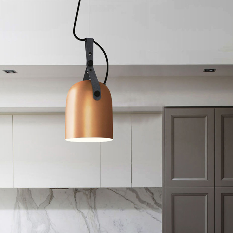 Nordic Suspension Luminaire Industrial Style Pendant Light Simple Belt LED Hanging Lamps Metal Lamp Shade Vintage Pendant Lights