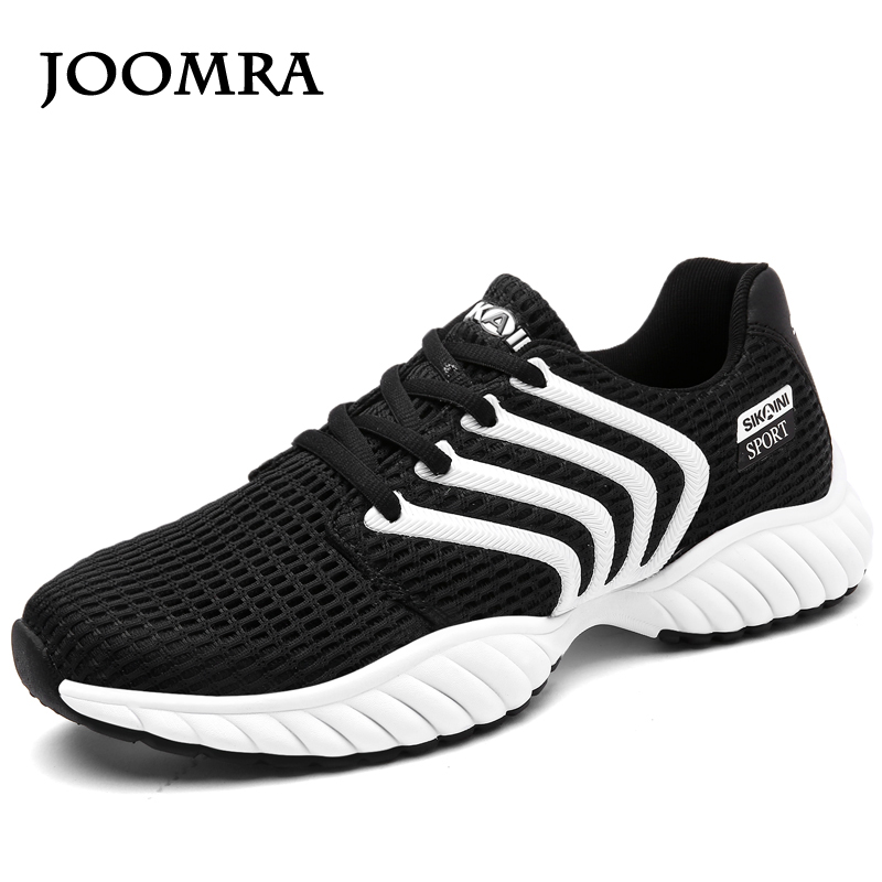 Joomra 2017 Men's Fly Weave Running Shoes Weave Breathable Soft Trend Sneakers For Women Male Sport Shoes