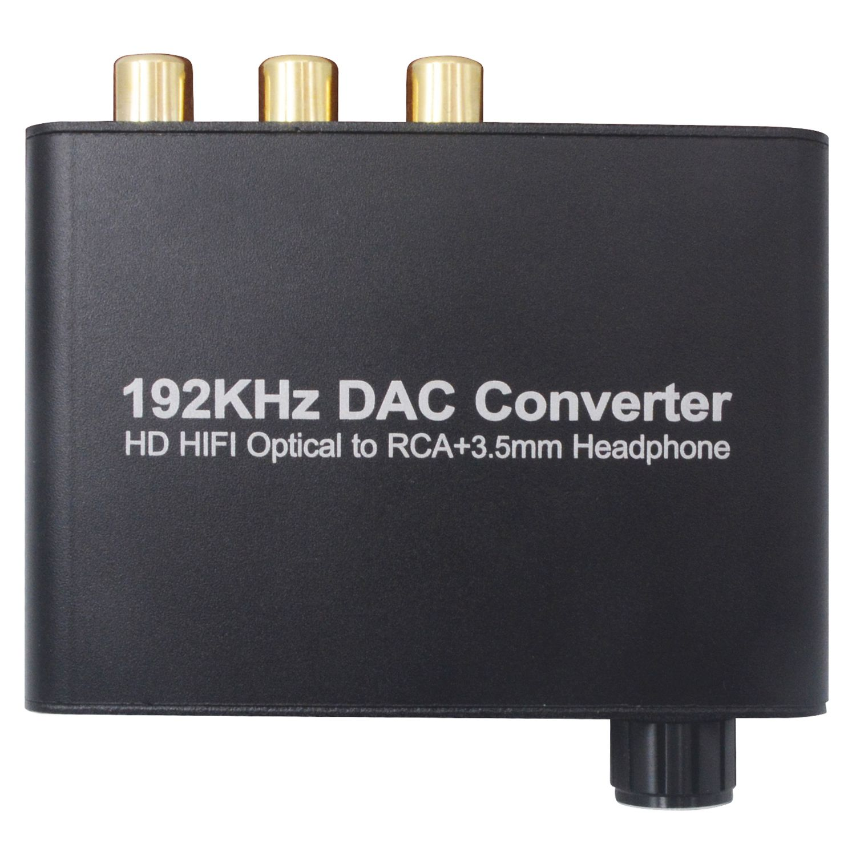 192 khz DAC Fiber Coaxial Konverter 5,1 HD Digital Audio Decoder Unterstützung AC-3/DTS Volumen Einstellung Decoder