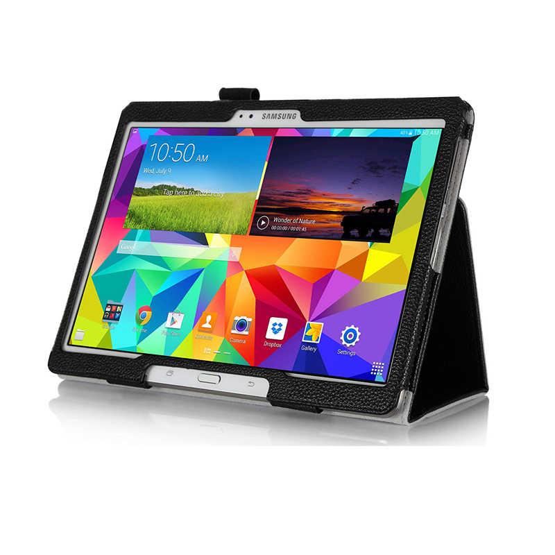 Slim Retro składany statyw PU inteligentne etui ze skóry dla Samsung Galaxy Tab S 10.5 T800 T801 T805 SM-T800 SM-T801 SM-T805 Tablet Case