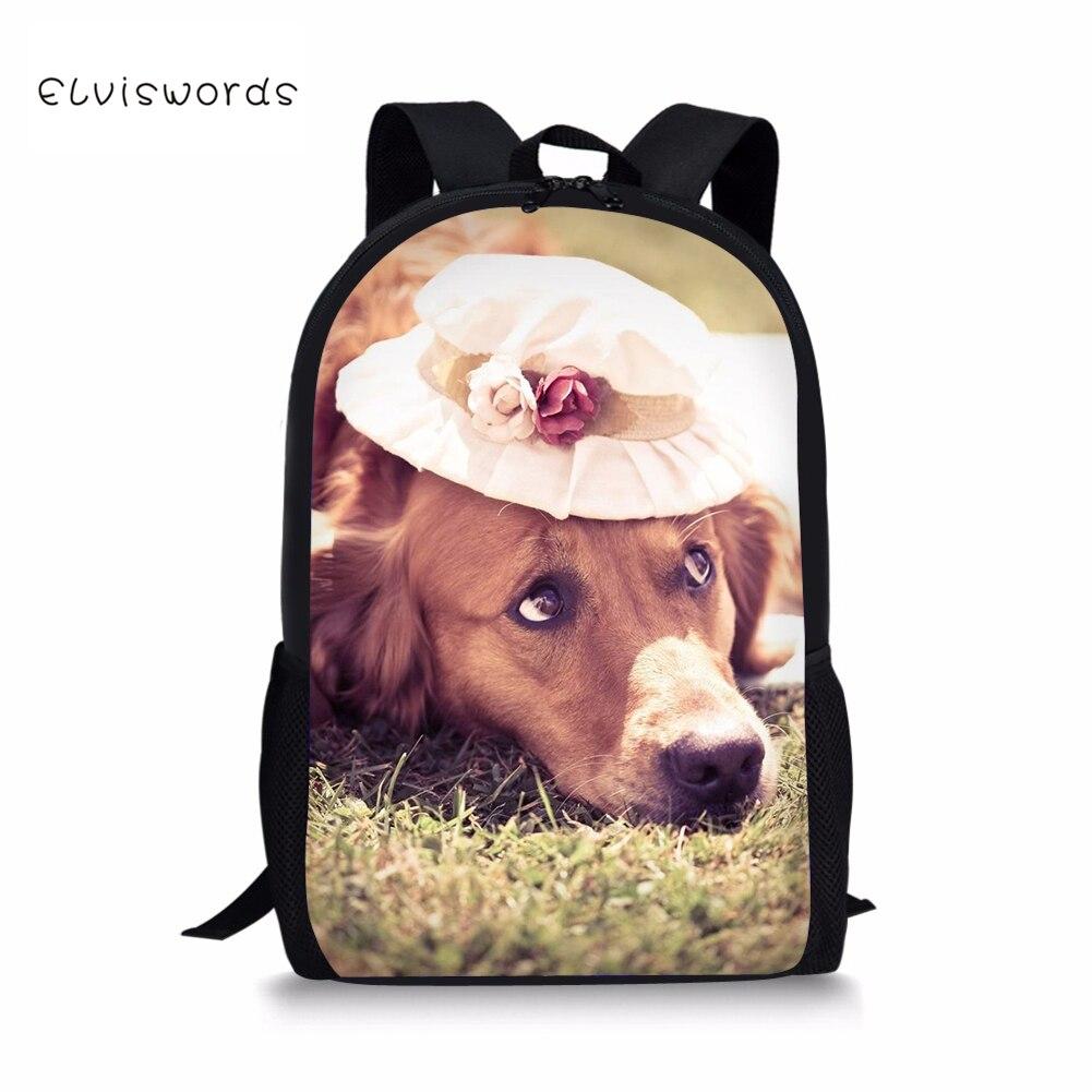 ELVISWPRDS Kawaii Backpack for Teenager Girls Boys Cute Dogs Printing Children Schoolbag Backpacks Casual Women Travel Rucksack