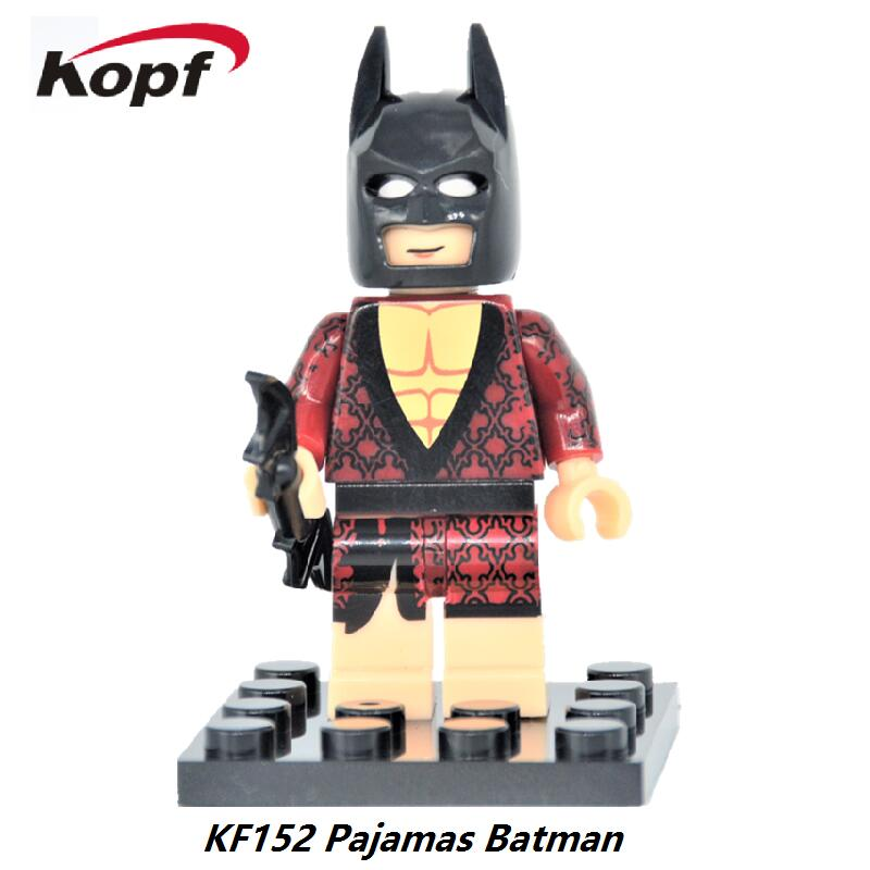 Single Sale Super Heroes Pajamas Batman Building Blocks Kids collection action Bricks childrens Gift Toys KF152