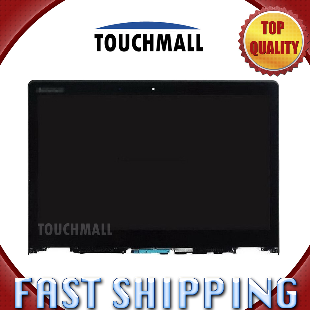 For Lenovo Yoga 700-14ISK 80QD Replacement LCD Display Touch Screen Digitizer with Frame Assembly 14-inch Black for Tablet lcd screen display touch panel digitizer with frame for htc one m9 black or silver or gold free shipping