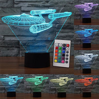 Star Trek Star Wars USB LED Night Light Lampa Led Oświetlenie 7 Kolory Kostium Lampa Stołowa Sypialnia Decor Nightlight dla Dzieci Prezent