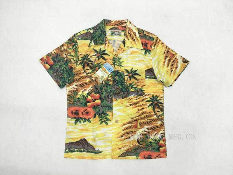 Bob Dong Aloha Hemden Hawaii Kokospalme Männer Strand Shirt Sommer Kurzarm Hawaiihemd Urlaub Tops Camisa Masculina