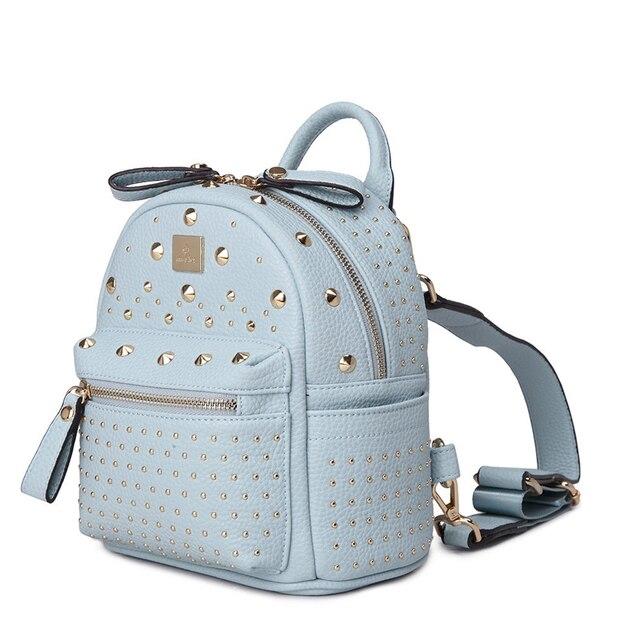 4fbc5ff15cbf37 Top Brand Trendy Rivet-studded Backpack Korean Style Fashion New Small  Daypack Casual MINI Bag