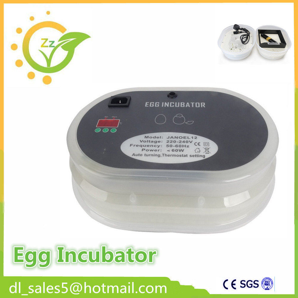 Newest Full Automatic Control Mini Egg Incubator Hatching Machine Automatic Poultry Egg Incubator 12 Chicken Egg Incubator small chicken poultry hatchery machines 48 automatic egg incubator 220v hatching for sale