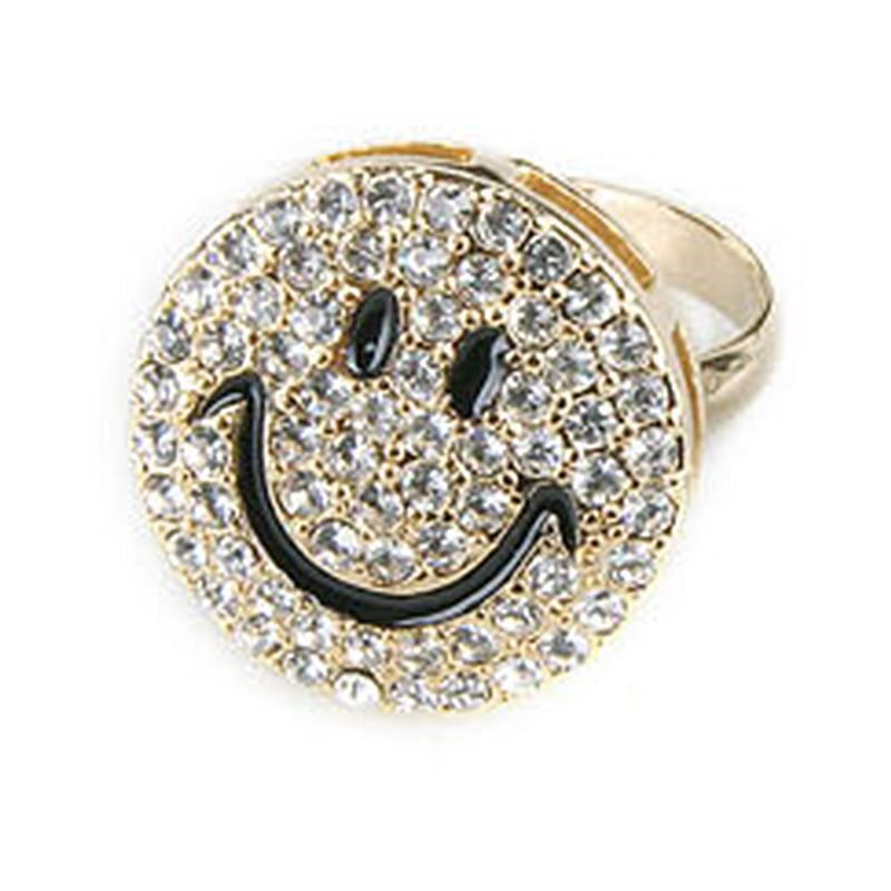 evan pav sydney yellow happy pave rings y face ring diamond small gold