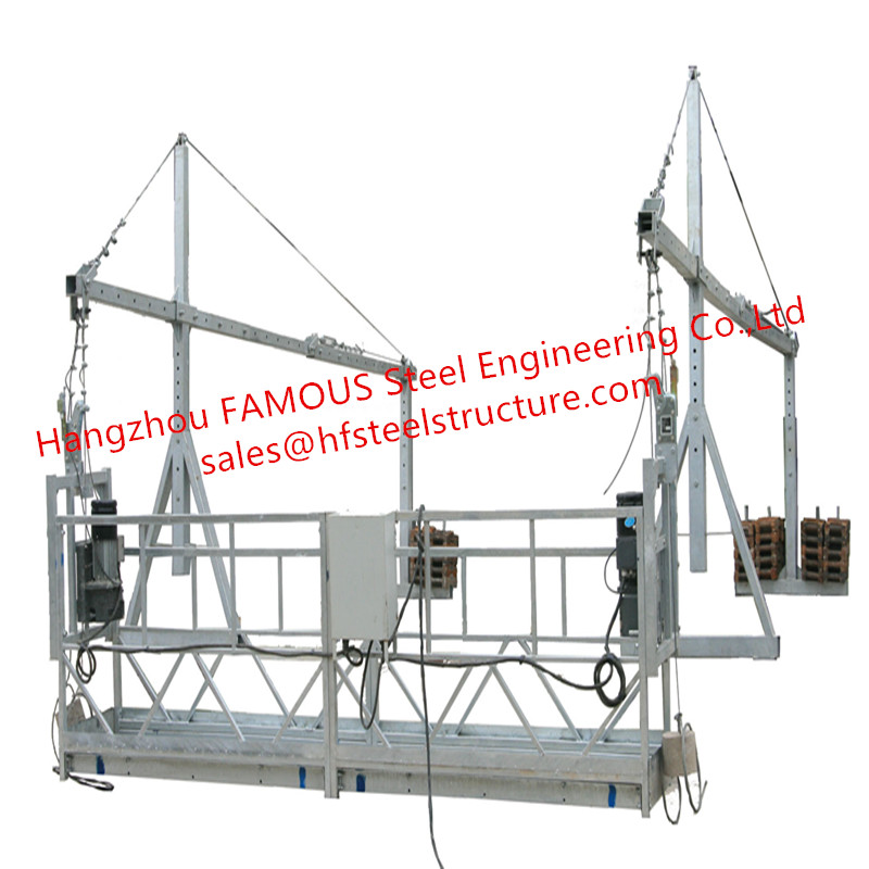 ZLP630 Electric Suspended Scaffolding Platform Adjustable Rope Wire Cradle For Exterior Wall Construction