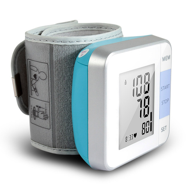 Cigii 1 PCS Heartbeat test Heart rate monitor Smart digital display bracelet Healyh Care Wrist blood pressure Monitor 5