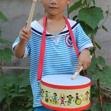Children Drum Sticks Child Wooden Musical Kids Percussion Instrument Toy Classroom Home School Hand Drum Educational Toys