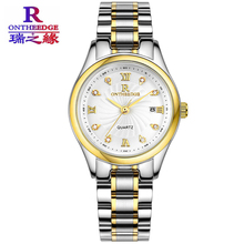 Ontheedge Stainless Steel Women Watch Date Function Gold Color Waterproof Bracelet Watch Dress Ladies Watch Hot Montre Femme