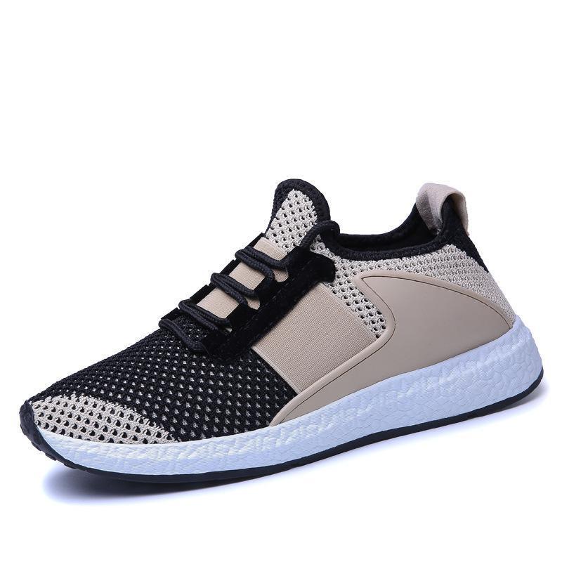 Cara Luz Nueva Pedal La Zapato gris Beige Red Estudiante Transpirable Ocio rojo Un EXax4xwd