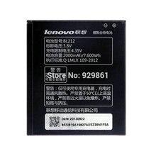 1 pcs nouveau pleine capacité 2000 mah bl212 batterie pour lenovo s580 téléphone mobile livraison gratuite + code de piste