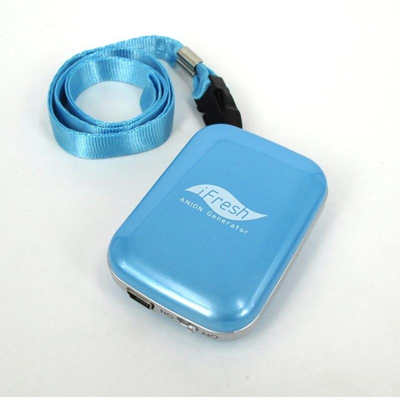 Portable Mini <font><b>Personal</b></font> Ionic <font><b>Air</b></font> <font><b>Purifier</b></font> Necklace Ionizer USB <font><b>Rechargeable</b></font>