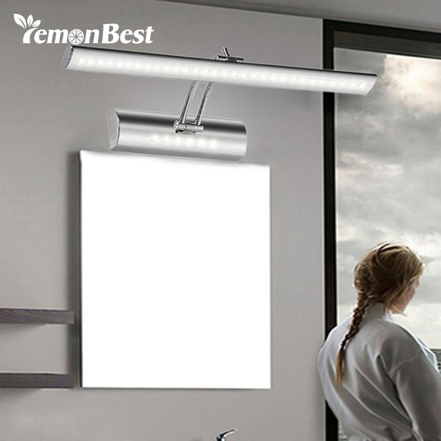 LemonBest 550mm Adjustable Bathroom Mirror Light Pouplar Led Lamp Bulb 85 265V 7W Bedroom