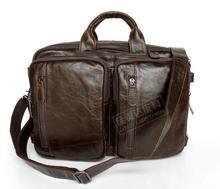 Genuine Leather  cowhide male multifunctional briefcase commercial laptop messenger bag laptop bag 7014q-1