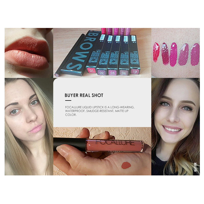 FOCALLURE Waterproof makeup Matte Lipstick Moisturizer Smooth Long Lasting Lip Gloss Cosmetic Beauty lipstick makeup 3