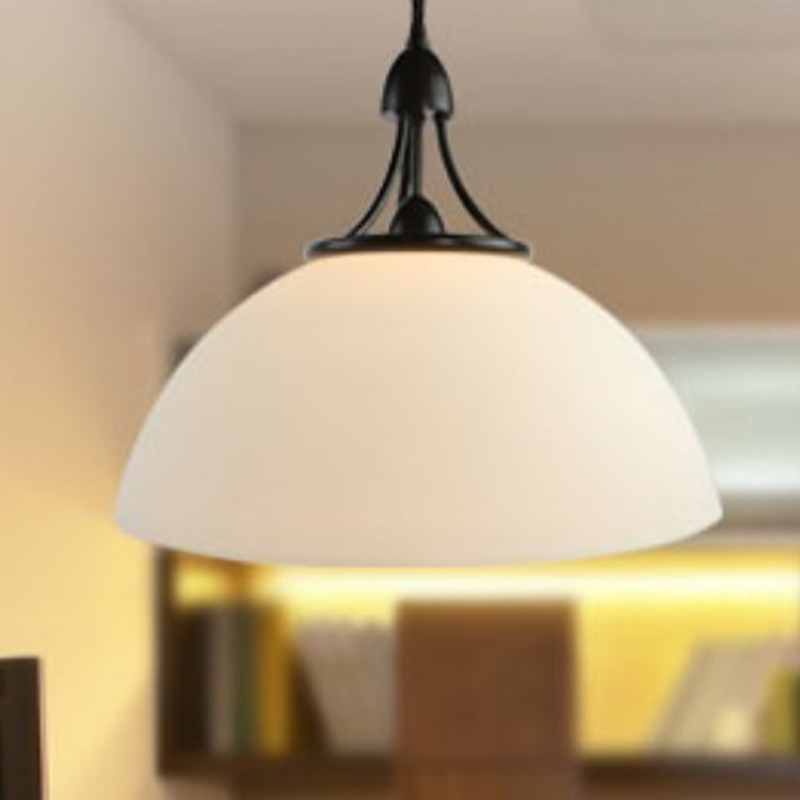 Nordic American Dining Table Light Modern Simple Creative Single Restaurant pendant lights Glass Aisle Study Lighting FG691