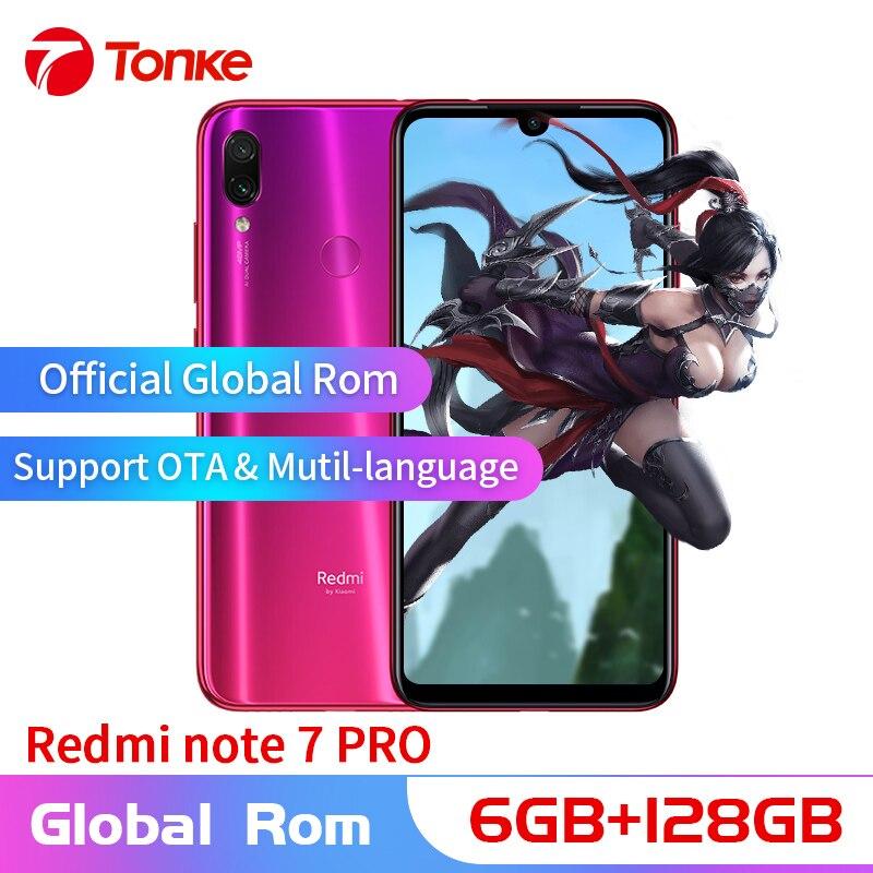 Мобильный телефон Xiaomi Redmi Note 7 Pro с глобальной OTA rom, 6 ГБ ОЗУ, 128 Гб ПЗУ, Восьмиядерный процессор Snapdragon 675, полный экран, двойная камера 48 МП