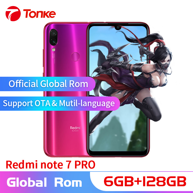 Global OTA Rom Xiaomi Redmi Nota 7 Pro celular 6GB de RAM 128GB ROM Snapdragon 675 Núcleo octa Full 48MP tela Câmera Dupla