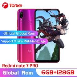 Globalne OTA Rom Xiaomi Redmi Note 7 Pro telefonu komórkowego 6GB pamięci RAM 128GB ROM rdzeniowy Snapdragon 675 Octa pełna ekran 48MP podwójny aparat fotograficzny 1