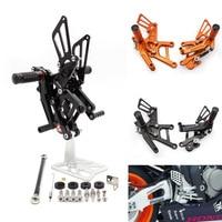 CNC Aluminum Motorcycle Rear Adjustable Rear Sets Set Footrests For Honda CBR CBR125 CBR150 150 125 2011 2015
