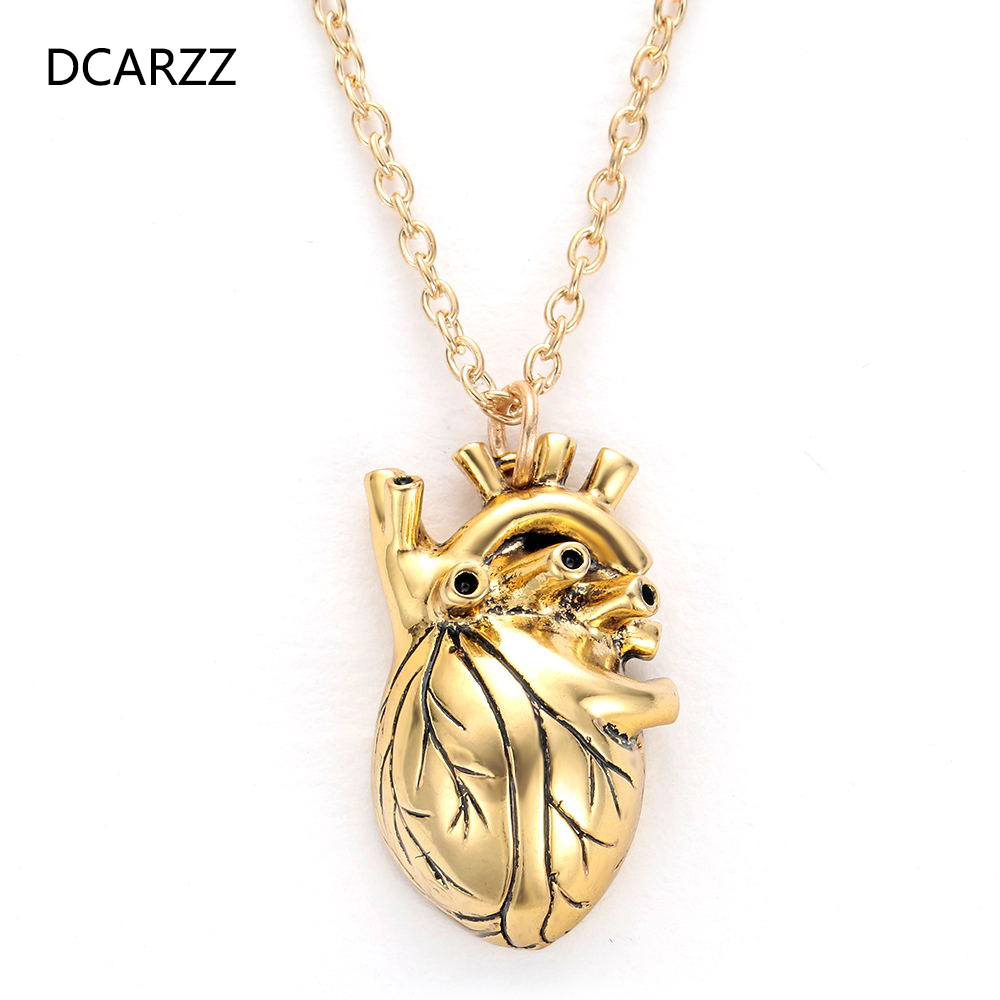 New Heart Shape Pendant Necklace Gift Women Choker Necklace Drop Shipping Gold Silver Initial Necklace For Doctor Nurse Jewelry