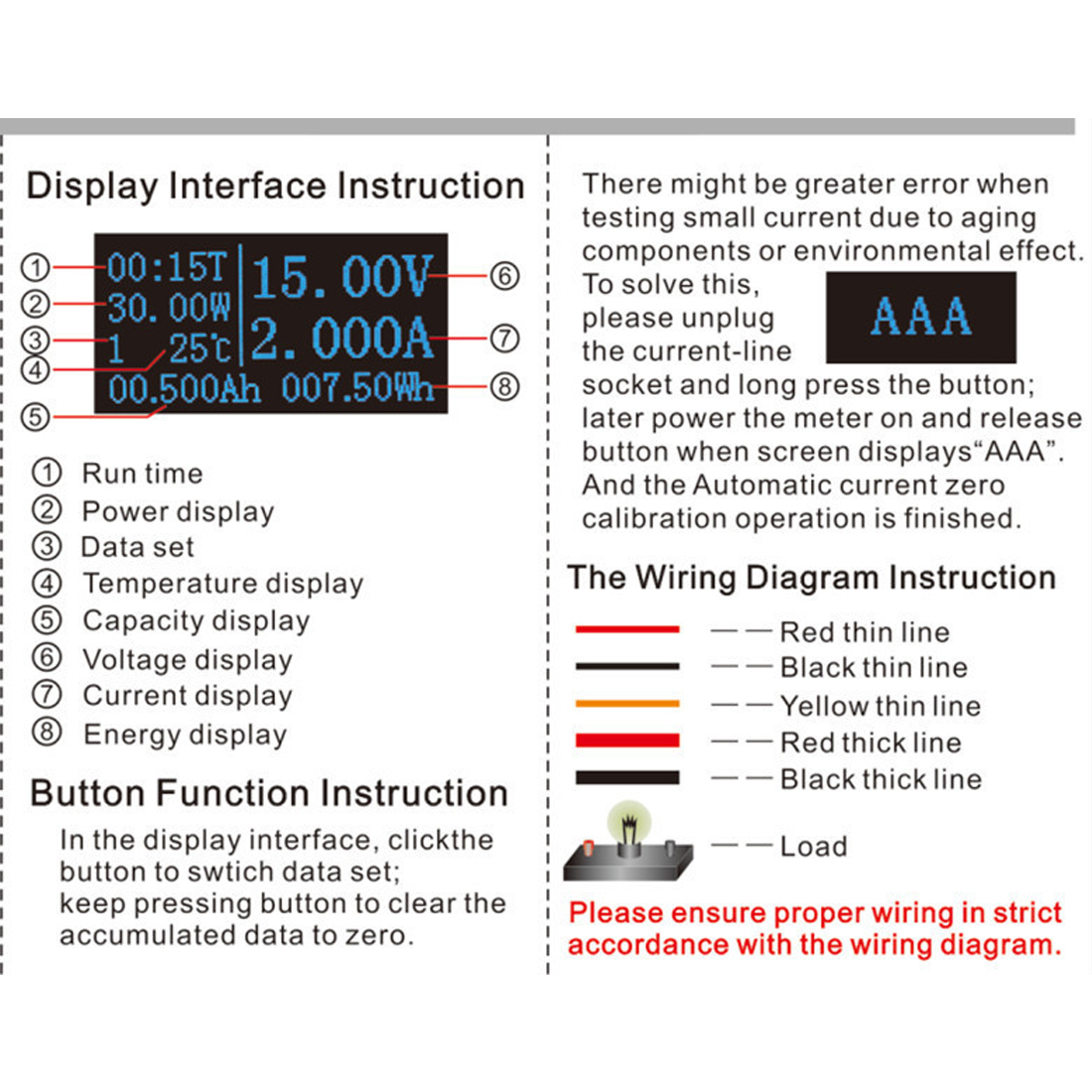 28x46mm 33v 3a Dc Oled Lcd Combo Meter Voltage Current Power Monitor Wiring Diagram Capacity Battery