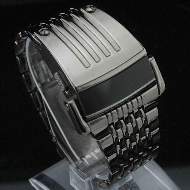 21390694827 אלקטרוני 2016 חדש דיגיטלי שעון מלא נירוסטה גברים שעוני יד צבאי גברים ספורט  שעונים אופנה LED