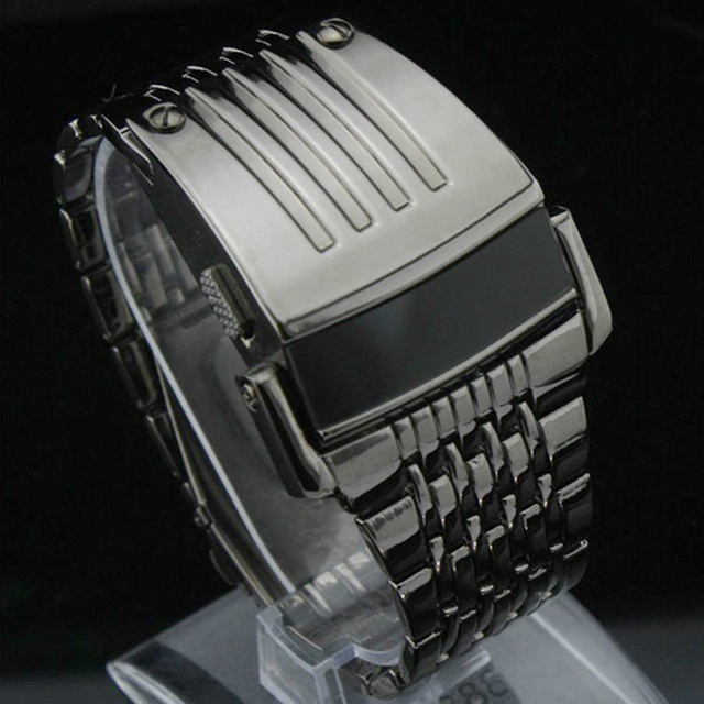 Electronic 2016 New Digital Watch Full Stainless Steel Men Wristwatches Military