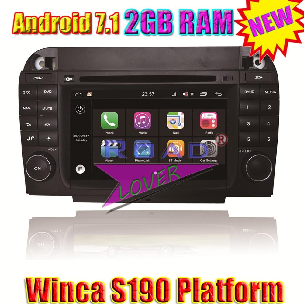 Winca S190 Android 7.1 4 ядра 2 ГБ Оперативная память Автомобильный мультимедийный DVD п ...