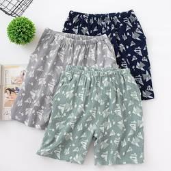 Летние шорты для сна для мужчин свежий мягкий 100% хлопок дома шорты женщин Мужская пижама брюки девочек модные повседневные