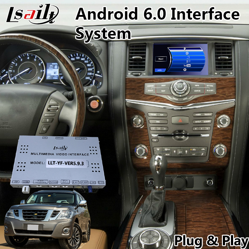 Android 6.0 Video Interface for Nissan Patrol / Armada 2012 2017 year , Built in WIFI Bluetooth Mirrorlink and GPS Navigation