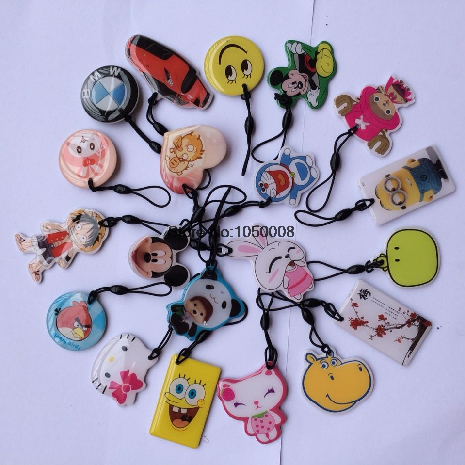 ФОТО 50pcs/lot  UID Changeable Card Small Pendant NFC Keychain 13.56MHz ISO14443A Block 0 Writable MF1 1K S50 Standard support