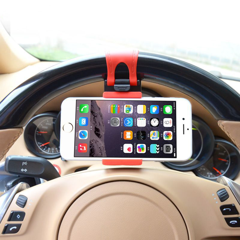 Mostotal Universal Car Phone Holder Car Steering Wheel Clip Mount Holder For IPhone X Xr Xs Max 5 6 6s 7 8 Plus Samsung S9 S10