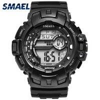 Smael Watch Men Black Watches Man Mens Top Brand Luxury Sports Watches Waterproof In 50M Men