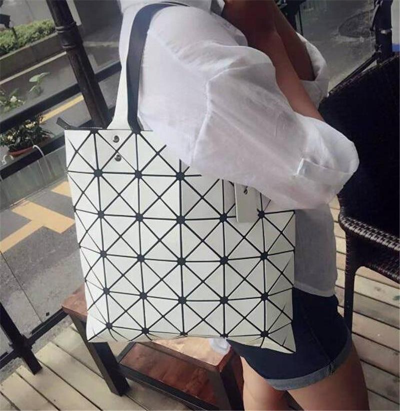 be44de6b38c3 Hot Sale Geometric Rhombus Bags 2016 Newest Fashion Women Bag Messenger  Bags ISSEY MIYAKE Leather Handbags 1pcs Lot