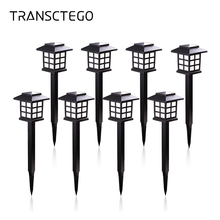 лучшая цена 8 PCS RGB Solar Led Light Pathway Lawn Lamp Auto Battery Power Outdoor Waterproof For Garden Landscape Path Yard Solar Lights