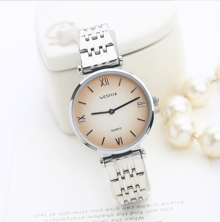 Simple mince quartz acier montre dames rétro mode étanche montre relogio feminino Commercial femmes montre-bracelet relojes mujer