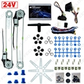 Car/Truck Front 2-Doors Electric Power Window Kits with 3pcs/Set Switches & Harness DC24V #FD-2979
